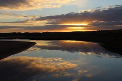 Reflection (sheelaghgleeson) Tags: beach coast reflection sunset wildatlanticway lahinch coclare