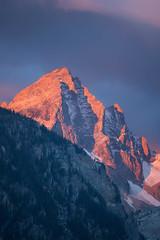 Sunset on Mount Wister (jmdarter) Tags: gtnp tetons mountains sunset