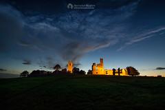 Hill of Slane at twilight (mythicalireland) Tags: slane hill meath ruins monuments twilight bluehour evening dusk sky light landscape