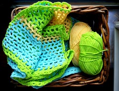 Crochet baby blanket (_Giorgia) Tags: crochet crochetblanket babyblanket crochetbabyblanket lightblue green yellow
