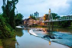 timb-0056 (iedafunari) Tags: timb santa catarina brasil tapyoka represa rio benedito passarela anoitecer ponte enxaimel