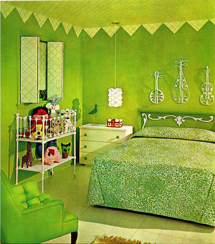 needs more green. For the Muppet lovers in the house  a  60s Kermit green bedroom