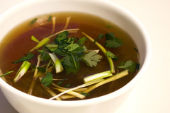 Super Duper Easy Tart Lime Broth and Noodles