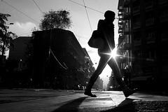 (Donato Buccella / sibemolle) Tags: street blackandwhite bw italy milan sunrise alba milano streetphotography flare santagostino fromtheground sibemolle instruction8