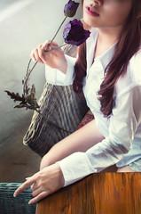 Julia Li (Blu3wings - Bp's studio) Tags: flowers light window nikon vietnam hcm saigon portrai d90 blu3wings