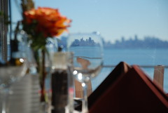 (DontHateTheBear H8K) Tags: sf california abstract flower reflection glass rose set breakfast dinner table lunch pepper bay san francisco candle salt area bayarea distance distant