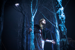 Beauty and the Beast (TGKW) Tags: trees portrait sky people woman moon girl beauty set night forest photography theatre glasgow stage gemma actress beast production citizens 6120 mcelhinney