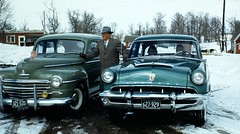 1948 Plymouth & 1953 Mercury (DVS1mn) Tags: cars car three mercury plymouth mopar slides 53 nineteen 1953 fifty fomoco wpc walterpchrysler fordmotorcompany chryslercorporation lincolnmercurydivision nineteenfiftythree