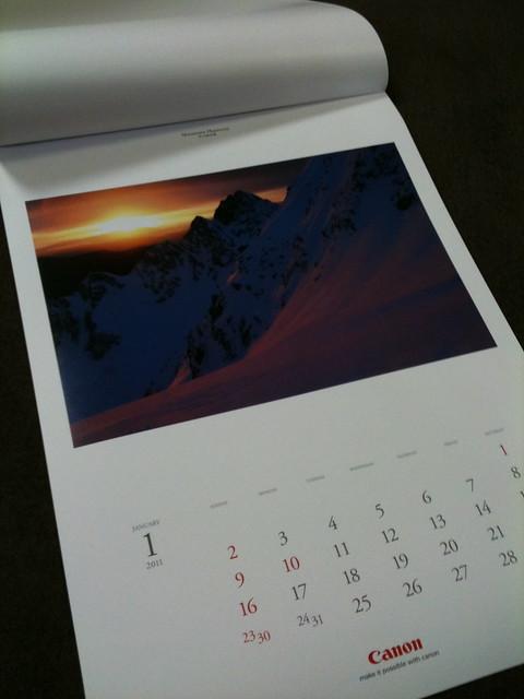 キヤノンカレンダー2011