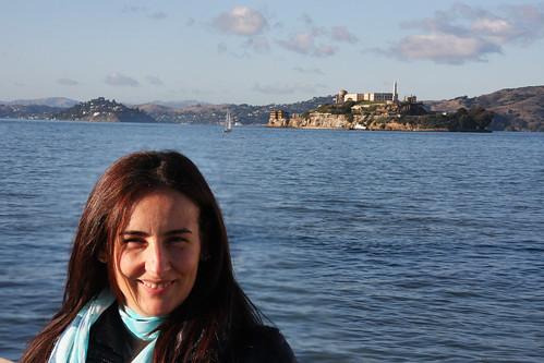 Marga with Alcatraz