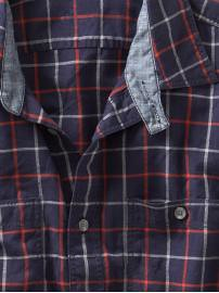 windowpane plaid shirt Gap