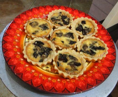 Mini-quiches de shitake