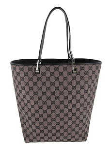 Gucci GG Logo Signature Tote Handbag Purse 260290