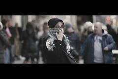 Bundled (Dj Poe) Tags: street new york city nyc winter cinema ny cold weather scarf movie photography is still dj candid fake usm cinematic tones poe 2010 muted 70200mm f28l 5dmkii
