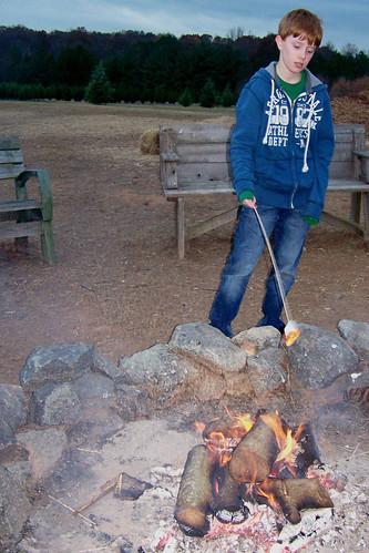 101129 Penland Tree Farm 13 - Spencer roasting marshmallows copy