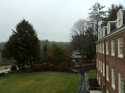Andover Inn - rainy morning - window view