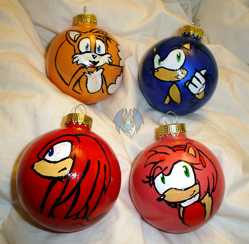 Sonic Ornaments by tierafoxglove