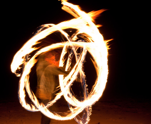 Toby firetwirling