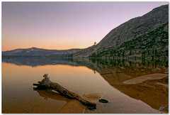 tenaya tranquility (chris frick) Tags: sunset lake reflections dusk tripod wideangle yosemite sierras cpl tuolumnemeadows tenaya a700 sonyalpha700 remoteshuttercontrol chrisfrick sonydt1118mm4556