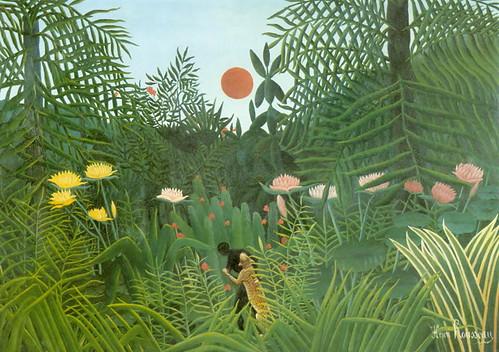Rousseau la forêt vierge domaine public (pour illustrer la jungle d'internet)