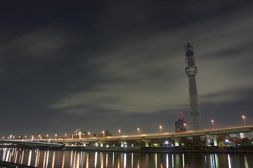 隅田川テラスから見たスカイツリー/TOKYO SKY TREE