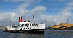 Maid of the Loch on Loch Lomond, with Ben Lomond in the distance. (Gordon Calder) Tags: photoshop scotland benlomond trossachs balloch maidoftheloch