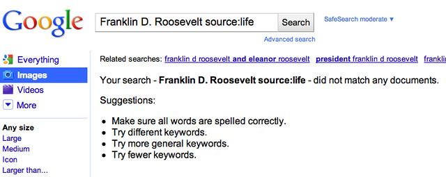 Life Image Search Bug