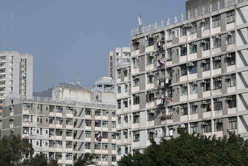 Lowrise Housing Authority towers in Tung Tau Estate