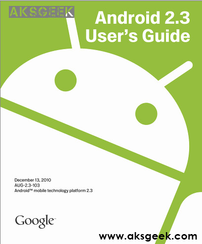Android 2.3 user guide