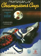 Everton v Rangers 19871208 (tcbuzz) Tags: cup club liverpool football championship al dubai glasgow british rangers programme everton nasr