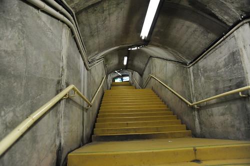 展望台への階段