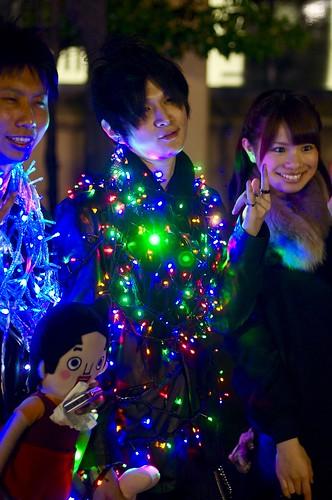 Keio Mita Festival 2010 - Human Christmas tree