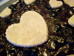 Practically Perfect Pastry (jazzijava) Tags: christmas food fruit pie recipe dessert baking heart sweet free blogger blueberry honey gift vegetarian pastry blogged tapioca tart dates gf driedfruit baked gluten celiac glutenfree milkfree riceflour dairyfree pieplate nomilk cornfree whatsmellssogood blueberrydatepie