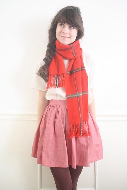 vintage tartan plaid scarf