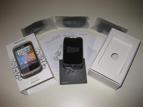 L'unboxing del mio HTC Wildfire