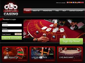Lucky Live Casino Home