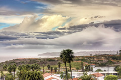 Glimmer of Hope for SoCal!!! (Didenze) Tags: ocean california light clouds palms raw rooftops stormy socal rainy orangecounty 75300mm sanclemente danapoint hdr glimmerofhope canon450d didenze