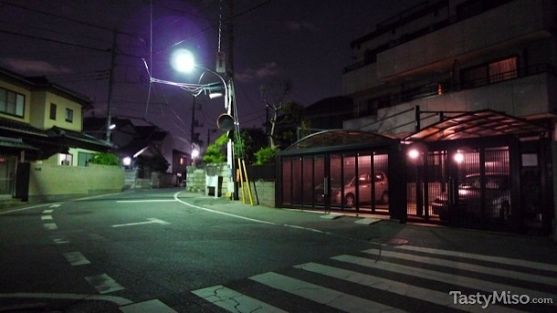 Local street at night
