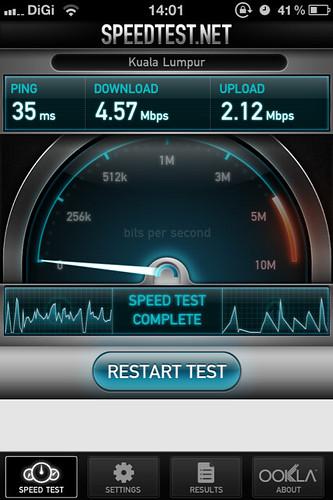 iPhone Unifi Speedtest