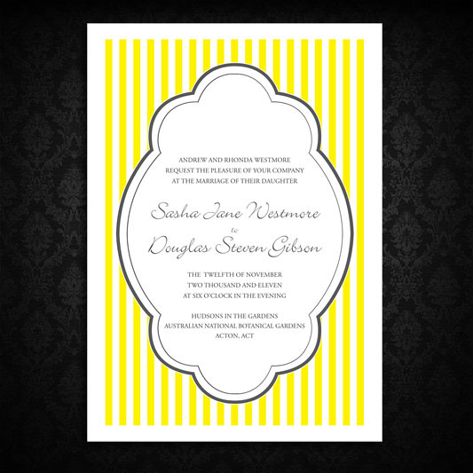 simply striped invitation