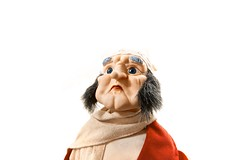 Scrooge (Brent Campanelli) Tags: christmas old blue red white man mannequin scarf beard toy eyes doll december sigma scrooge brent sideburns 25th chops 1020mm achristmasstory campanelli ebenezerscrooge