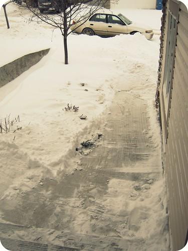 shovelled