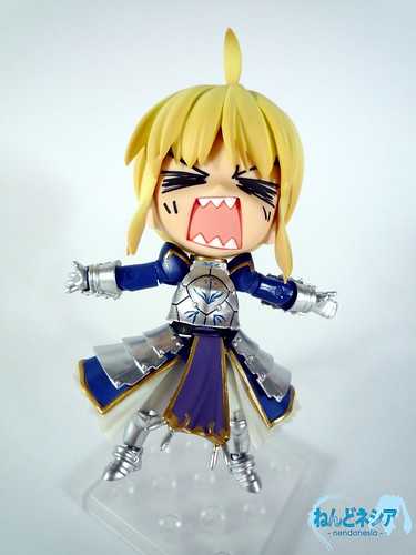 Saber does not look happy being examined
