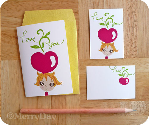 Growing My Love For You gift card and tag set