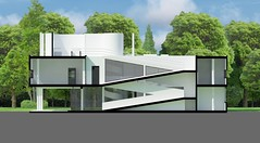 V.Savoye render south-north section 2