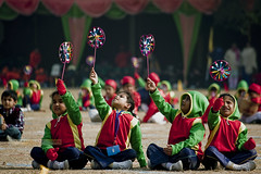 Fanfare (kalsnchats) Tags: show winter girls sun sports boys colors kids children photography fan colorful day event colored fare cultural alpana chatterjee kalsnchats chatterjeekalsgmailcom