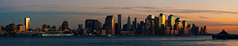 Downtown NYC sunset panorama (dansshots) Tags: nyc newyorkcity d3 urbansun nycpanorama newyorksunset newyorkcitysunset nikond3 dansshots