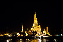 04 Wat Arun (Ursula in Aus (Away)) Tags: architecture night river thailand temple lights bangkok wat arun chaophraya rivercruise        earthasia totallythailand