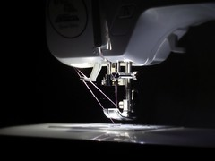 Light came on (itchinstitchin) Tags: light thread studio sewing crafts machine sew needle stitching