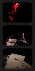 2011 - Heart in focus (Mauritzson Foto) Tags: game cards smoke scent fragrance fokus spår doft hjärter spå fotosondag fotosöndag fokusspardoft fs110109 hjärteress